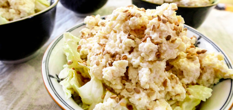 Cabbage and Bean Flower Salad : New Glarus Spotted Cow